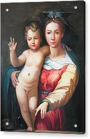 Madonna Toscano Acrylic Print by Onais