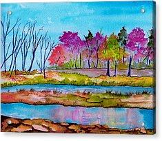 Magenta Woods Acrylic Print by Brenda Owen
