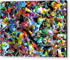 Magic  Colors  Sculpture  Nineteen  Ninety  Nine Acrylic Print by Carl Deaville