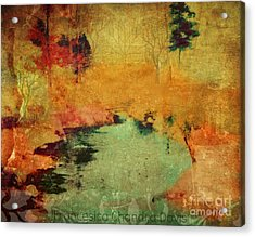 Magic In Autumn Mist Acrylic Print by Sacred  Muse