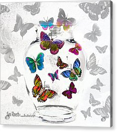 Magic Moth Jar Acrylic Print by Suni Roveto