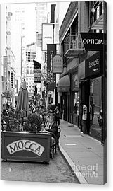 Maiden Lane San Francisco California - 5d19376 - Black And White Acrylic Print by Wingsdomain Art and Photography