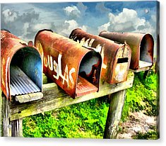Mail Boxes Acrylic Print by Tom Griffithe