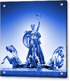 Maine Monument  In Blue Acrylic Print by Mike McGlothlen