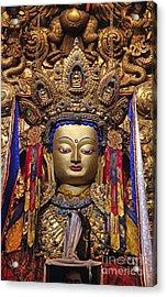 Maitreya Statue - Jokhang Temple Tibet Acrylic Print by Craig Lovell