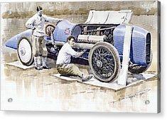 Malcolm Campbell Sunbeam Bluebird 1924 Acrylic Print by Yuriy  Shevchuk