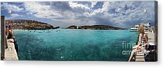 Malta Mediterranean Beach Acrylic Print by Guy Viner