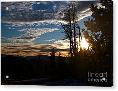 Mammoth Mountain California At Sunrise Acrylic Print by ELITE IMAGE photography By Chad McDermott