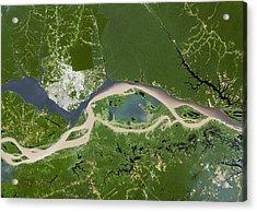 Manaus, Satellite Image Acrylic Print by Planetobserver