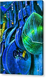 Mandolin Blues Acrylic Print by Frank SantAgata