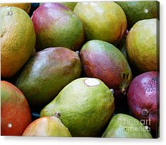 Mangoes Acrylic Print by Methune Hively