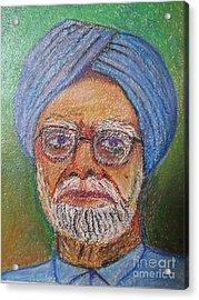 Manmohan Singh Acrylic Print by Nedunseralathan R