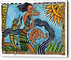Maori Woman Dance Acrylic Print by Shawn Shea