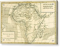 Map Of Africa Acrylic Print by Guillaume Raynal