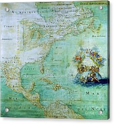 Map Of America  Acrylic Print by Pg Reproductions