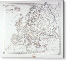 Map Of Europe Acrylic Print by Fototeca Storica Nazionale