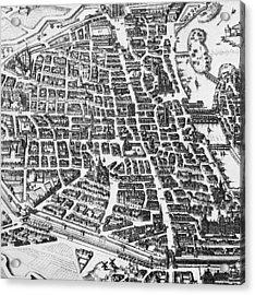 Map Of Paris Acrylic Print by German School
