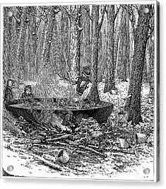 Maple Syrup, 1877 Acrylic Print by Granger