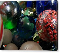 Marbles Around The World Acrylic Print by K Walker