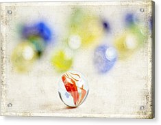 Marbles Acrylic Print by Darren Fisher