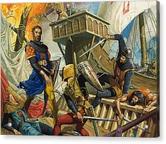 Marco Polo Acrylic Print by Severino Baraldi