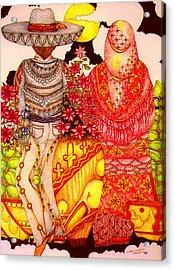 Mariachi Wedding Acrylic Print by Dede Shamel Davalos