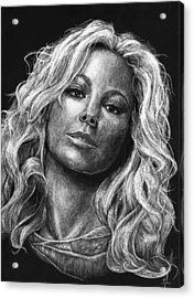 Mariah Carey Acrylic Print by Michael Trujillo