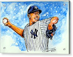 Mariano Rivera Acrylic Print by Dave Olsen
