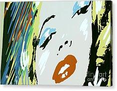 Marilyn In Hollywood Acrylic Print by Micah May