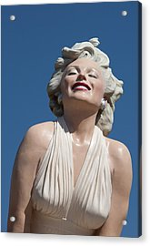 Marilyn In The Sun Acrylic Print by Matthew Bamberg