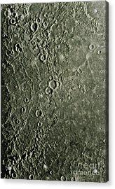 Mariner 10 Mosaic Of Mercury Showing Acrylic Print by NASA / Science Source