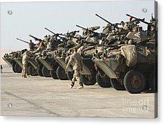 Marines Perform Maintenance On Light Acrylic Print by Stocktrek Images