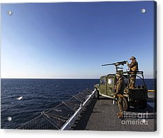 Marines Provide Defense Security Acrylic Print by Stocktrek Images