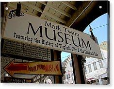 Mark Twian Museum Virginina City Nv Acrylic Print by LeeAnn McLaneGoetz McLaneGoetzStudioLLCcom