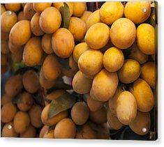 Market Mangoes Acrylic Print by Zoe Ferrie