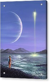 Marooned Astronaut Acrylic Print by Richard Bizley and Photo Researchers