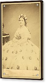 Mary Todd Lincoln 1818-1882 Acrylic Print by Everett
