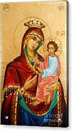 Mary With Jessus R.3 Acrylic Print by Sorin Apostolescu