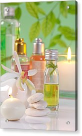 Massage Spa Concepts Acrylic Print by Atiketta Sangasaeng