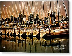 Masts Acrylic Print by Cheryl Young
