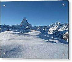 Matterhorn, Switzerland Acrylic Print by Thepurpledoor