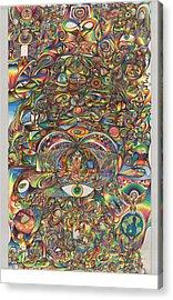 Maya Creation Acrylic Print by Jonathan DiNo DiNapoli