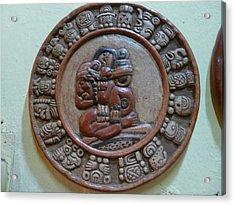 Mayan Art 2012 Acrylic Print by Juan Francisco Zeledon