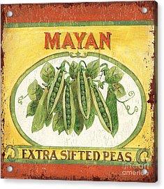 Mayan Peas Acrylic Print by Debbie DeWitt