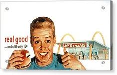 Mcdonalds Restaurant Advertisement Acrylic Print by Everett