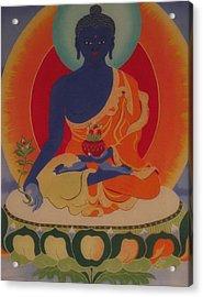 Medicine Buddha Acrylic Print by Elisabeth Van der Horst