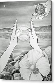 Meditation  Acrylic Print by Irina Sztukowski
