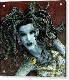 Medusa Acrylic Print by Jutta Maria Pusl