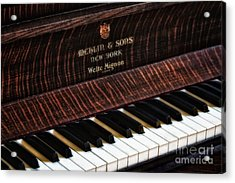 Mehlin And Sons Piano Acrylic Print by Susan Candelario