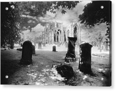 Melrose Abbey Acrylic Print by Simon Marsden